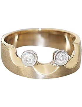 Hobra-Gold Designerring - RING GOLD 585 MIT Brillant - Goldring - Brillantring Damenring