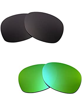 Hkuco Mens Replacement Lenses For Ray-Ban Wayfarer RB2132 55mm Black/Emerald Green Sunglasses