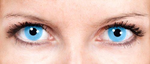 Kontaktlinsen ohne Sehstärke Motivlinsen Fee blau Halloween Karneval