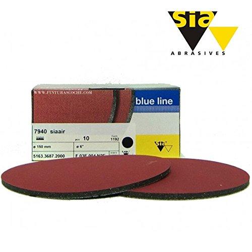Preisvergleich Produktbild SIA AIR Velvet Schleifscheiben Klettscheiben Schleifpad 150mm K800 / 10 Stück