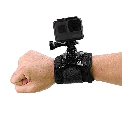 AuyKoo Cinturino da polso a braccio rotante da 360 gradi con attacco a rotazione per GoPro Fusion, GoPro Hero 2018 6 5 4 3