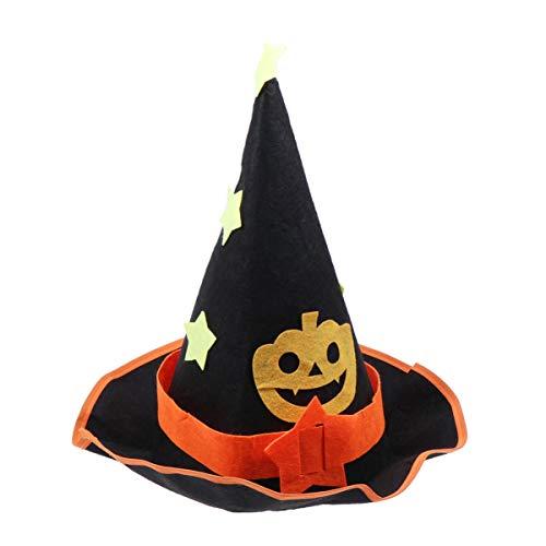 STOBOK Halloween Hexe Hüte Kostüme für Kinder schwarz und orange Kürbis Party Hüte verkleiden Sich Kappe für Maskerade (Maskerade Kostüm Kinder)