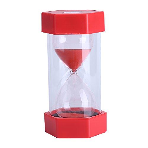 Sanduhr 3/10/20/30/60Minuten - für Heim, Büro oder als Deko, Geschenk 30 minutes red