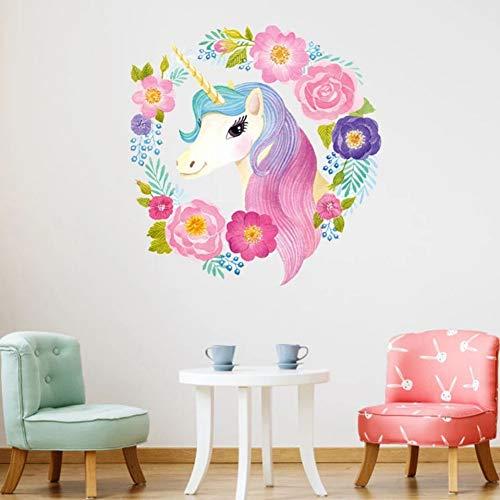 leber für Kinderzimmer Mädchen Zimmer Schlafzimmer Dekor DIY Cartoon Tier Tapete Wandtattoos Kindergarten ()
