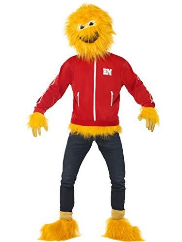 Halloweenia - Herren Männer Honig Honey Monster Kostüm mit Maske, Jacke, Handschuhe und Gamaschen, perfekt für Karneval, Fasching und Fastnacht, L, Rot -