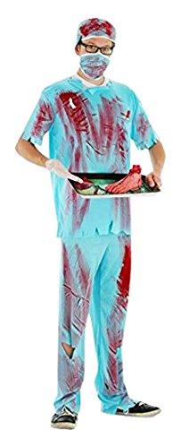 Folat 21980 - Erwachsenenkostüm Chirurg, M/L, blau (Halloween Arzt)