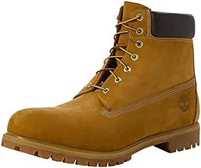 Image indisponible. Image non disponible pour la couleur   Timberland 6in  premium boot, Boots homme - Jaune (Wheat ... 700617b9816a