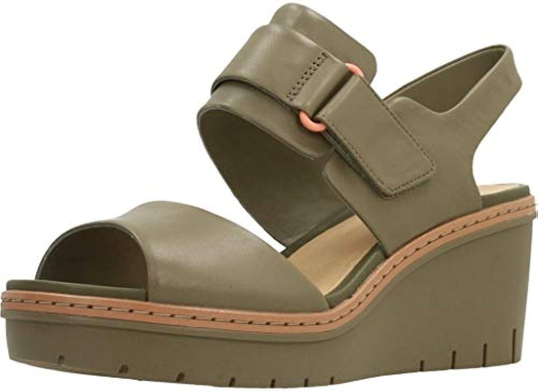 Clarks Lacci Scarpe per Donna, Coloreee verde, Marca, Modello Modello Modello Lacci Scarpe per Donna Palm Stellar Olive Leather... | Tatto Comodo  64f64d