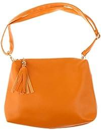 MagiDeal New Design Tassel Mini Bag Women Handbag Tote Purse Messenger Bags - Yellow