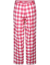 Twist Men's Pink Checked Cotton Pyjama Night Wear With Contrast & Free Shipping