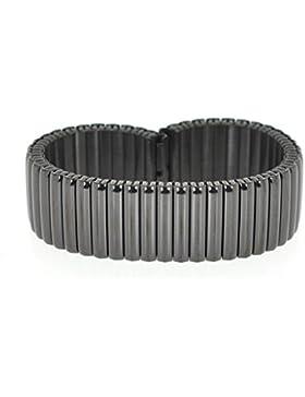 18mm Eichmüller Edelstahl Zugband Flexband E45 PVD-Schwarz beschichtet - glänzend