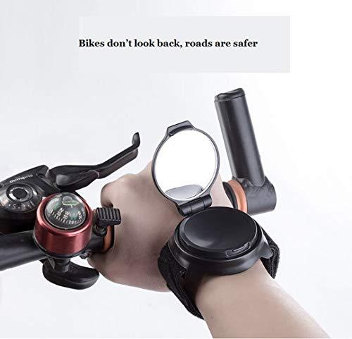 3M Fahrrad Spiegel, Fahrrad Motorrad Rückspiegel Für Radfahrersicherheit Mountain Road Bike Reiten Radfahren Zubehör Lenker Reflektor Armband Handgelenk Spiegel