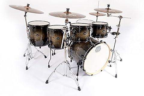 Mapex AR628SFU-BTK Armory Rock Fusion Drum Kit Shell Pack, Black Dawn