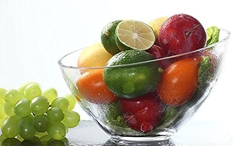 Oblique Glas Schüssel of Fruit Salatschüssel von Suppe Schüssel Dessertschale transparent Large Queen