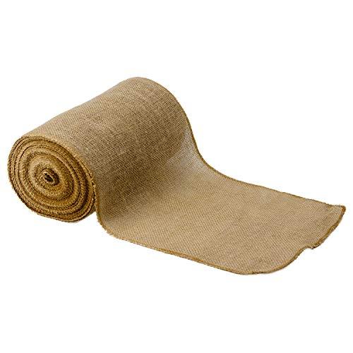 Rollo de arpillera natural de 10 m de tela r/ústica de yute puro para hacer manualidades en bodas y fiestas as photo 5cm x 10meters