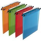 L'Oblique AZ Design Pack 10 dossiers suspendus polypropylène tiroir fond V Assortis