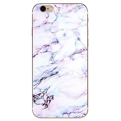 IPHONE 7plus Hülle Marmor Mandala TPU Silikon Schutzhülle Handyhülle Case - Klar Transparent Durchsichtig Clear Case für iPhone 7plus Schutz Hülle dls5