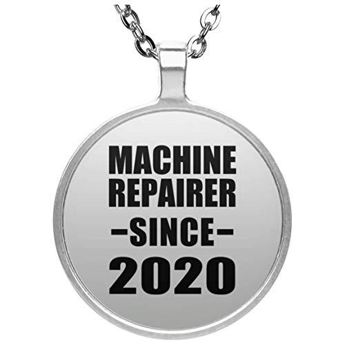 Machine Repairer Since 2020 - Circle Necklace Halskette Kreis Versilberter Anhänger - Geschenk zum Geburtstag Jahrestag Muttertag Vatertag Ostern -