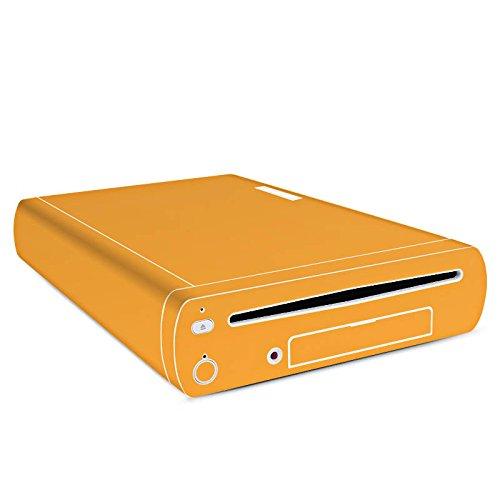 Nintendo Wii U Konsole Case Skin Sticker aus Vinyl-Folie Aufkleber Melonen Farbe Orange