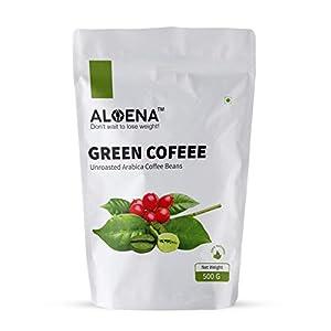 Aloena Green Coffee Beans- Natural and Premium Arabica Grade AAA 500 GM (17.63 OZ)