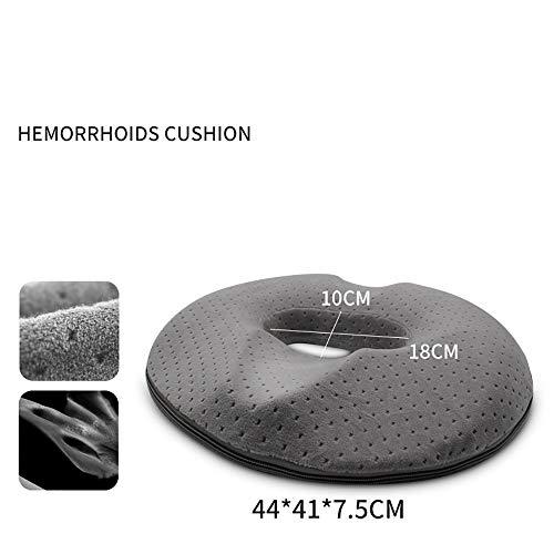 ZUEN Donut-Tailbone-Kissen Hämorrhoiden-Kissen, für Hämorrhoiden-Steißbein-Schmerzlinderung, Donut-Sitzkissen für Home Office-Auto-Rollstuhl-Donut-Kissen,B (Medical Office-möbel)
