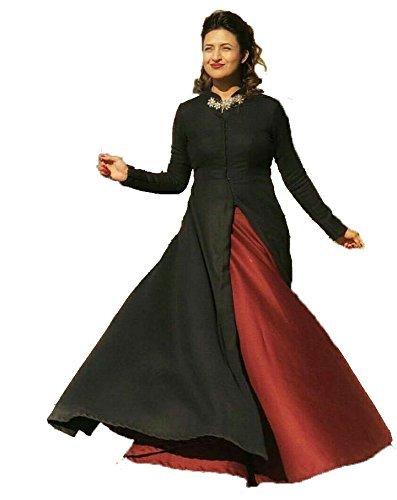 Women's Taffeta Silk Party Wear Gown Indo Western For Girls (XL Size...