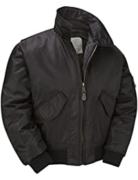 Army and Outdoors MA2 CWU Bomber Flight Jacket - Black (5XL)