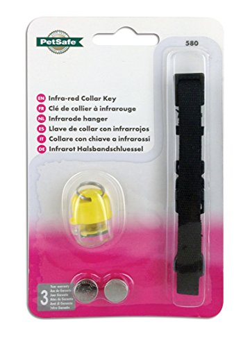 PetSafe Ersatz Infrarotschlüssel, Staywell Infrarot- Halsbandschlüssel gelb, Zugangshalsband für 500SGIFD Infrarot Katzenklappe, Halsband + Infrarot- Schlüssel + Batterien, erhältlich in 4 Farben