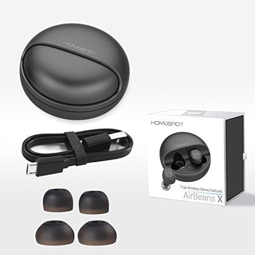 Bluetooth Kopfhörer in-ear True Wireless Ear Pods Bluetooth Headset Kabellose Kopfhörer mit Mikrofon Noise Cancellation Ladeetui Sweatproof für iPhone Smartphones Tablets Laptop AirBeansX by HomeSpot - 5