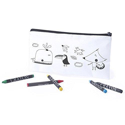 MIRVEN Lote de 30 Estuches para Colorear con 5 Pinturas de Cera Incluidas cada uno. Ideal Para Regalos de Cumpleaños, fiestas de Colegios,comuniones, niños bodas.