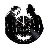 Batman VS Joker Vinyle Horloge-Dark Knight DC Comics Meilleur anniversaire Original Idée-Disques Vinyle Décoration murale faite à la main de décoration de chambre Décoration fête Thème-Style vintage et moderne