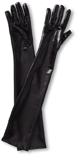 Lange Leder-Optik Handschuhe