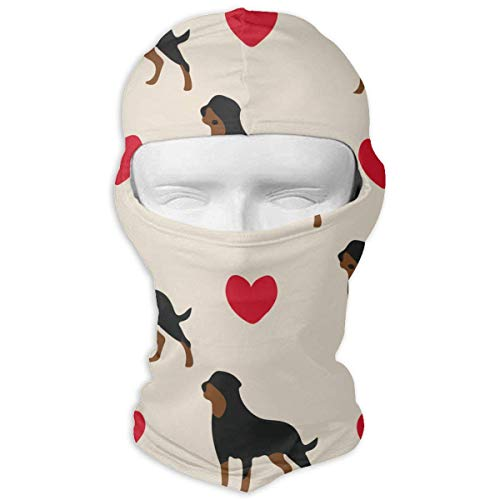 Sdltkhy Rottweiler Dog Colorful Hearts Balaclava-Ski Mask for Men Women Motorcycling Gesichtsmaske Hood -