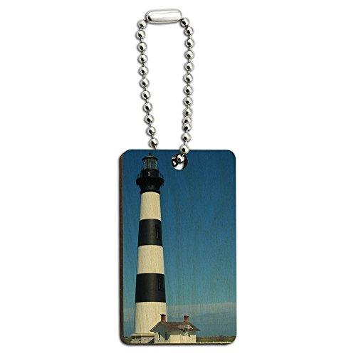 Bodie Island Lighthouse North Carolina Holz Rechteck Schlüssel Kette