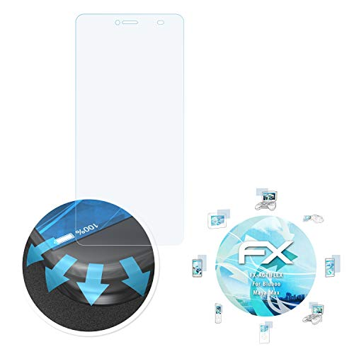 atFolix Schutzfolie passend für Bluboo Maya Max Folie, ultraklare & Flexible FX Bildschirmschutzfolie (3X)