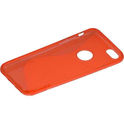 PhoneNatic Case für Apple iPhone 6s / 6 Hülle Silikon grau Cover iPhone 6s / 6 Tasche Rot