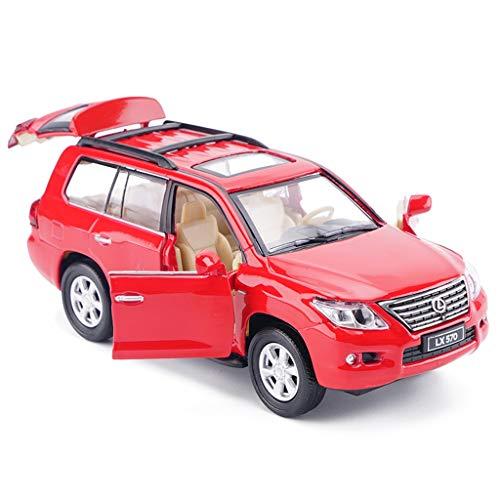 IVNGRI-Auto Model Lexus LX570 Große SUV RED 1/32 Diecast Modellauto Simulation Alloy Mode Spielzeug Vechiles Sammeln Modellautos Geschenke (Model Kit Auto Nissan)