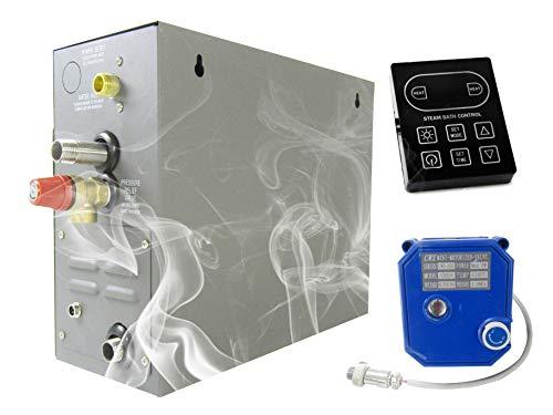 YJINGRUI 7KW Dampfbad Generator Hause Dampfdusche Sauna Dampferzeuger für Dusche / Sauna Bad / Home SPA 9m3 / mit Hitzeerhaltung / Selbstentleerung 220 V 50/60 HZ (KS-120 Control Panel)