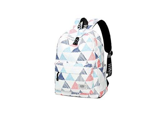 Imagen de acmebon  escolar unisex y de ocio impermeable  cartera escolar para niñas y niños con lindo estampado triángulo alternativa