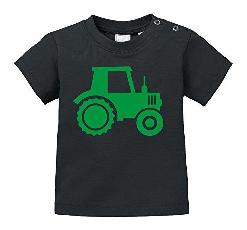 Traktor - Aufdruck für Landwirtschaft begeisterte Kinder - Bio Baby T-Shirt (Kleinkind-t-shirt Bauernhof,)