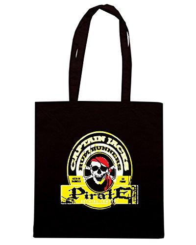 T-Shirtshock - Borsa Shopping BEER0046 captain jacks rum runners Nero