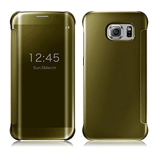 Pour Samsung Galaxy S7, Amison Luxe Miroir Slim Coque Housse de Protection (Argent) Or