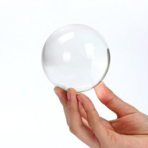 Donnagelia Transprent Fotokugel Glaskugeln Kristallkugel Perfekt für Outdoor Reisen Fotografie Dekorationen