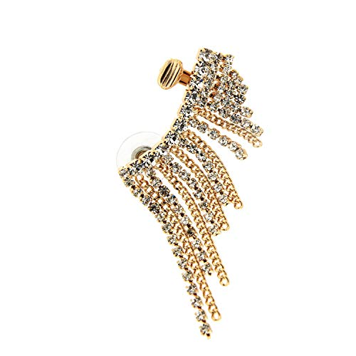 sweet deluxe 6663 Ear-Cuff Wolke Gold / Crystal | Damen-Ohrschmuck für jeden Anlass, Modeschmuck Ohrringe Ohrring für Geburtsag | Abiball, als Geschenk