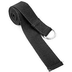 Zehui - Cinturón para yoga (185 cm) negro negro