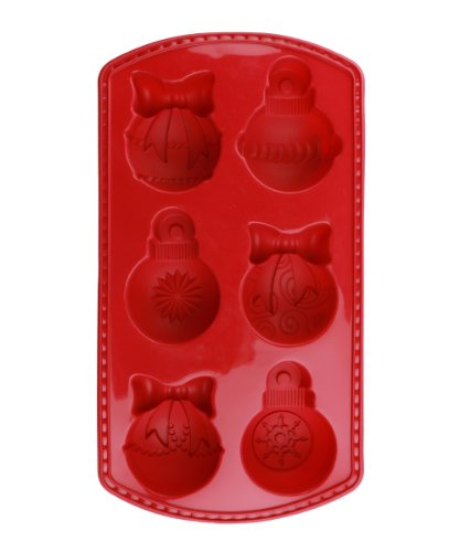Siliwelt Silikon geruchsneutral antihaft Backform Weihnachtskugeln 32 x 21 x 5,5 cm