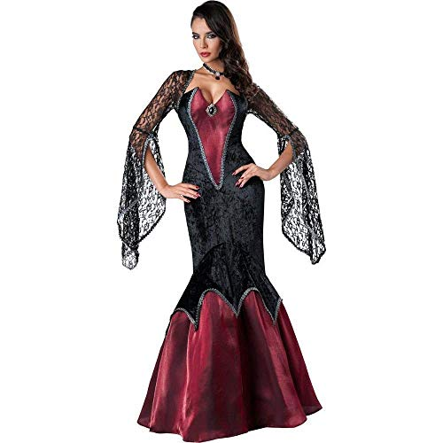 Fashion-Cos1 Sexy kostüm Halloween Dress kostüm geisterbraut Hexe Vampir kostüm Frauen Maskerade Party Halloween Cosplay kostüm (Halloween-make-up Hexe Alte)