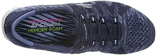 Skechers Ez Flex 3.0 Take-The-Lead, Baskets Basses Femme Bleu - Bleu marine