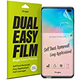 """Ringke Dual Easy Film [2 Pack] Compatible with [Galaxy S10 Plus] High Resolution [Anti-Smudge Coating] Easy Application Case Friendly Screen Protector for Galaxy S 10 Plus (6.4"""")"""