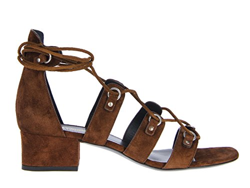 Saint-Laurent-Babies-flat-lace-up-sandals-in-coffee-suede-leather-Model-number-427820-CLT00-2532